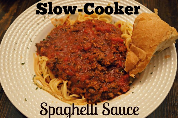 Slow cooker spaghetti sauce, Slow cooker spaghetti and Spaghetti on ...