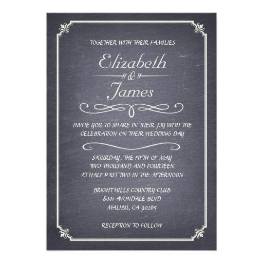 2376 besten Chalkboard Wedding Invitation Bilder auf Pinterest