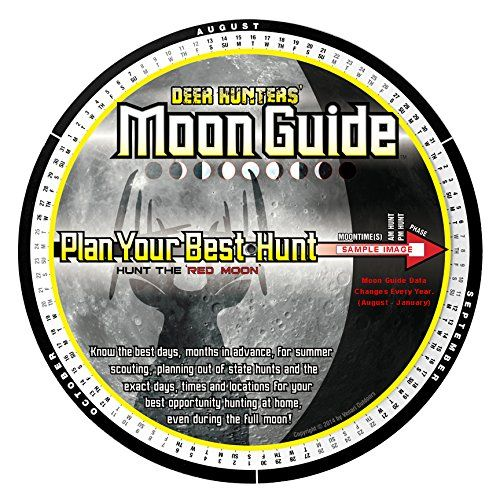 Deer Hunters Moon Guide - The Deer Hunter's Moon Guide tells you the best days, times and locations to encounter a mature buck on his feet during daylight hours. Are you tired of hunting nocturnal trail camera bucks? Do you ever wonder why bucks only show up during daylight on certain days each year? The Deer Hunters' Moo...