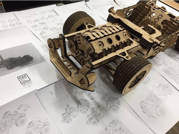 V8 CAR Model by kevinkenny - Thingiverse | Laser cut cars