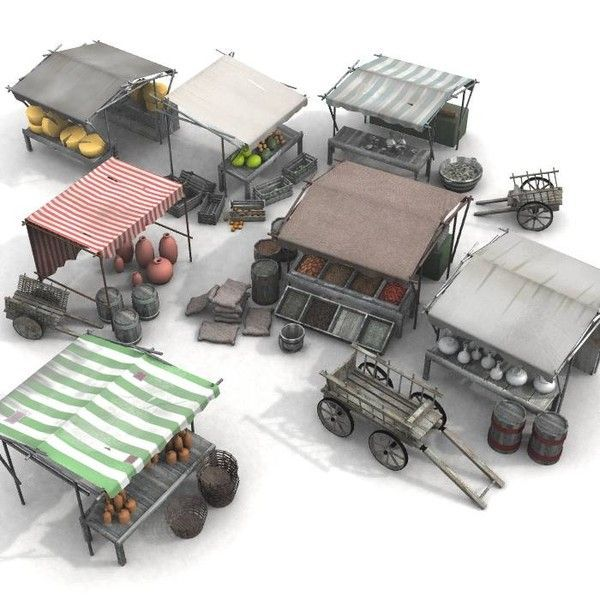 Image result for medieval market prop game 3d
