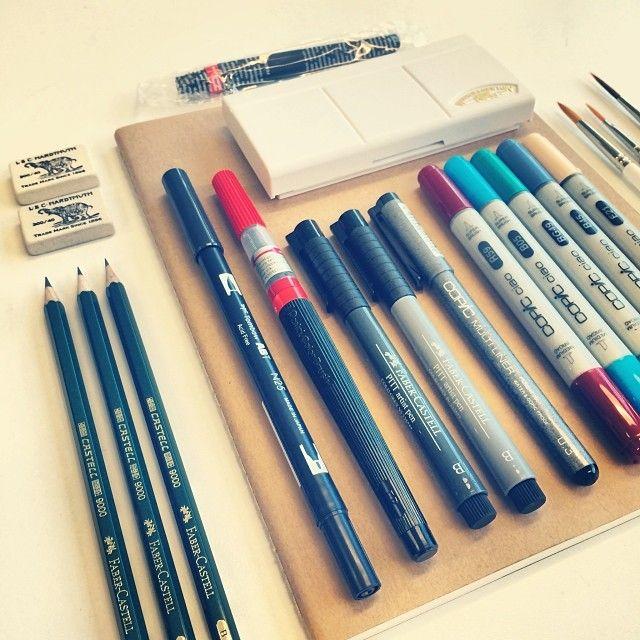 .@// Bijdevleet // | Needed a new sketchbook, ended up with a little more than just a sketchbook ... | Webstagram