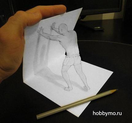 3D рисунки карандашом. Секреты рисования 3д иллюзий