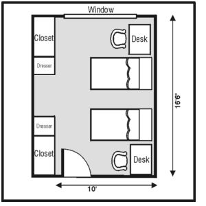 My General Dorm Room Layout. Well Defined Space For Us. Part 61