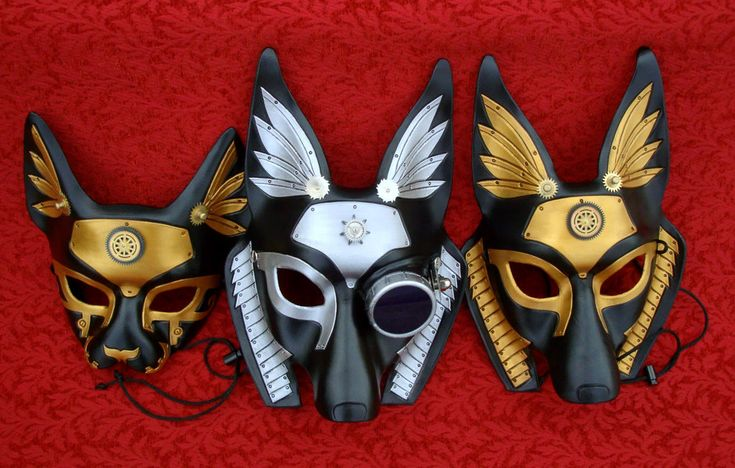 Industrial Egyptian Mask Trio by *merimask on deviantART