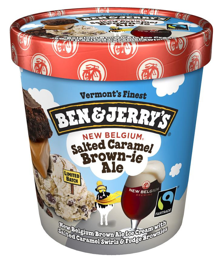 Ben & Jerry's Salted Caramel Brown-ie Ale Ice Cream
