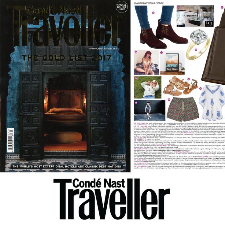 As Seen In Conde Nast Traveller  | January/February 2017 Issue 'The Gold List'