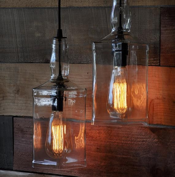 The Warehouser Recycled Whiskey Bottle Wall Sconce