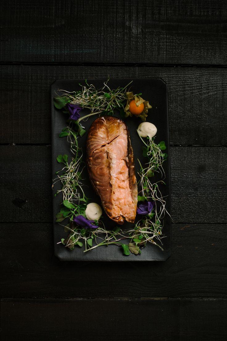 Smoked salmon, food,