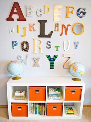 Make Room for Baby: Katie and Jeremy Raadt's Orange and Navy Nursery for Baby Eli (via Parents.com)