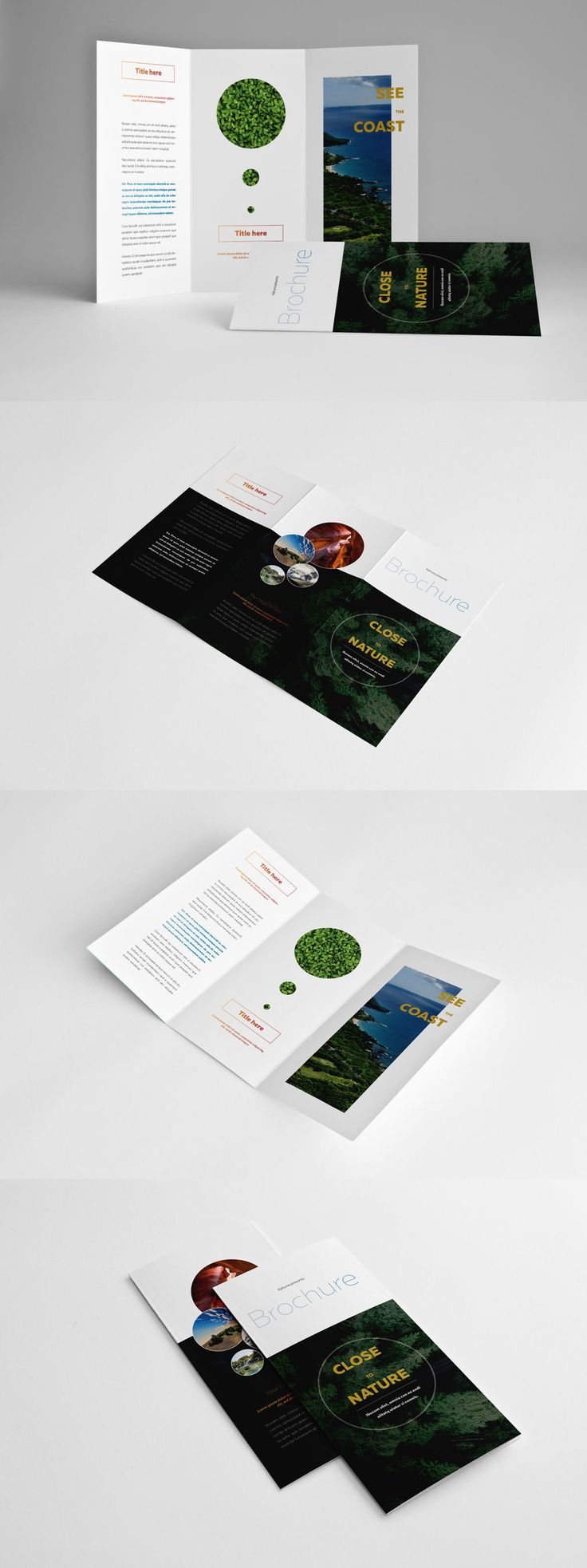 library brochure templates - natural trifold brochure template indd unlimited