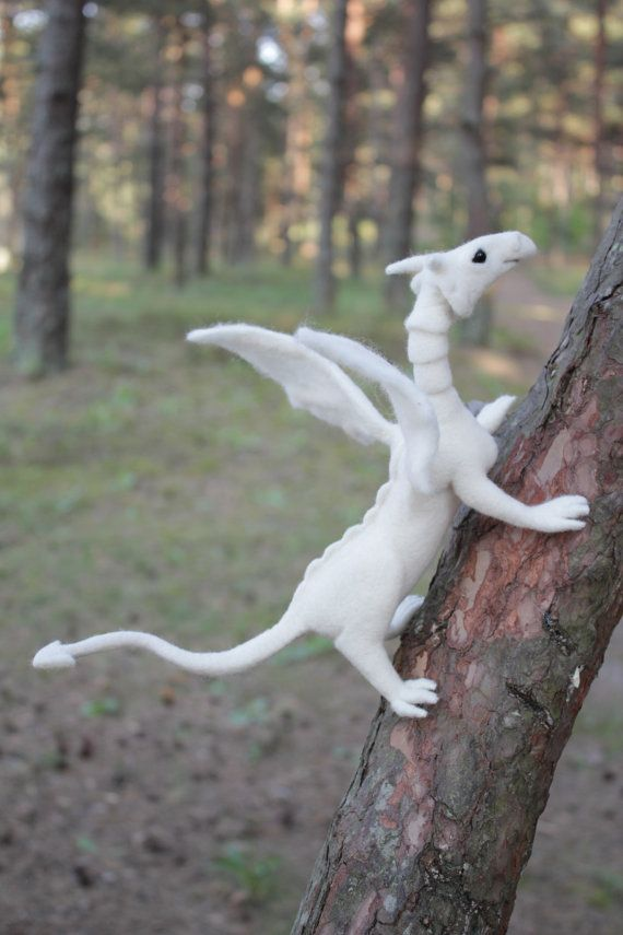Hand Made Needle Felted FANTASY DRAGON soft by AliceFelts on Etsy