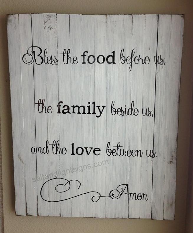 Kitchen Prayer Quotes: Saltandlightsigns.com Wooden Christian Scripture Sign