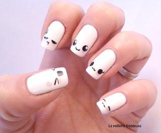 Muestra tus emociones con caritas en tus uñas. #nailart
