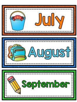 Free Printable Calendar Headings