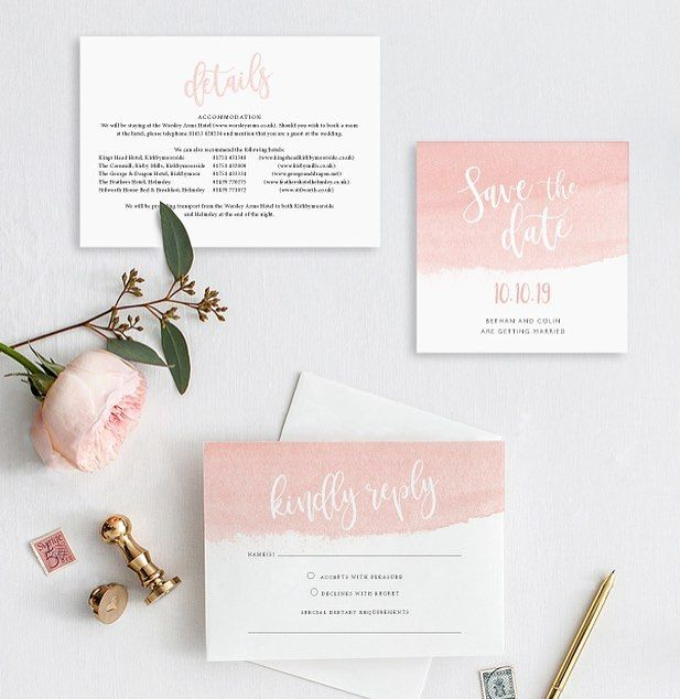 Wash Design Launched Today Order Your Tailored Samples Using The Link In The Bio Watercolou Watercolour Wedding Stationery Olive Wedding Wedding Invitations