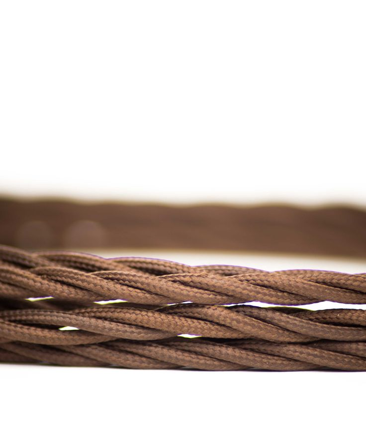 Vintage Fabric Electric Cable - Earthy Brown Twisted - William&Watson