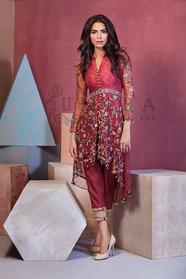 Umsha by Uzma Babar Luxury Pret Fall/Winter Collection 2015  http://clothingpk.blogspot.com/2015/09/umsha-by-uzma-babar-luxury-pret-fall-winter-collection.html
