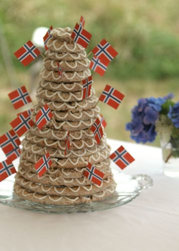 Yummy!!     Kransekake!!  This was our wedding cake when we got married!