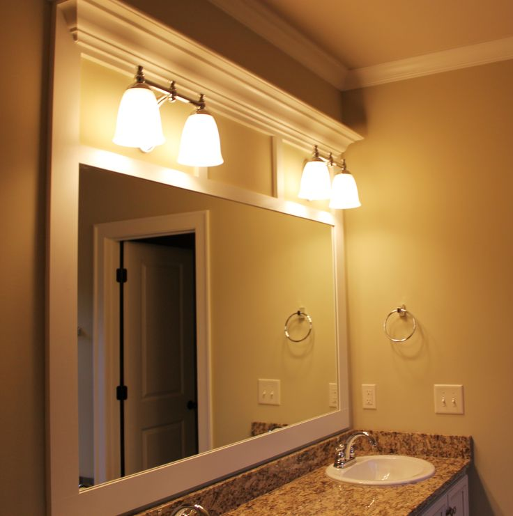 Brown Framed Bathroom Mirrors best 20+ frame bathroom mirrors ideas on pinterest | framed