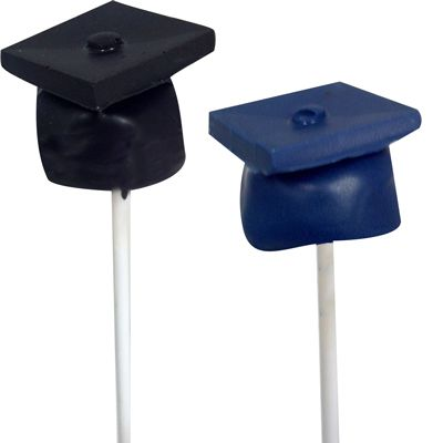 This cake pop graduation cap is  fun for an open house dessert! CK Products Press & Mold 94-216531