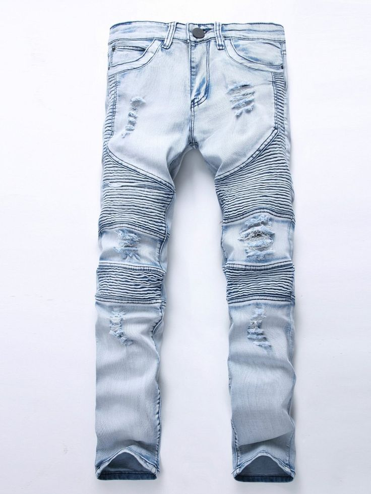 SHARE & Get it FREE | Broken Hole Zip Fly Moto JeansFor Fashion Lovers only:80,000+ Items • New Arrivals Daily • Affordable Casual to Chic for Every Occasion Join Sammydress: Get YOUR $50 NOW!