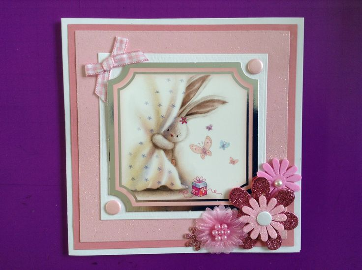 Crafters companion bobunny pink card