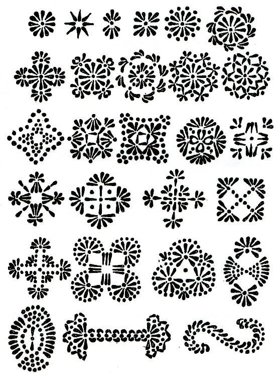 Lithuanian egg designs