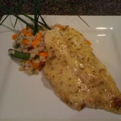 Orange Roughy with Sherry and Herb Sauce food-and-drink