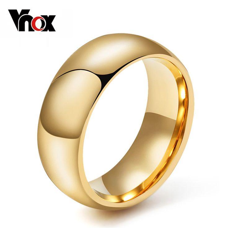 Vnox 100% tungsten ring für männer männliche hochzeit engagement metall klassische schmuck