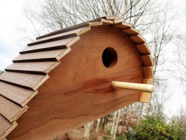 Unique Ready-to-Paint Wood Birdhouse by Wood Dork - contemporary - birdhouses - Etsy