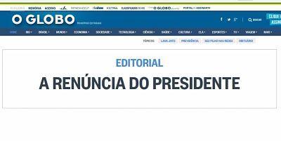El diario más importante de Brasil pide la renuncia de Michel Temer