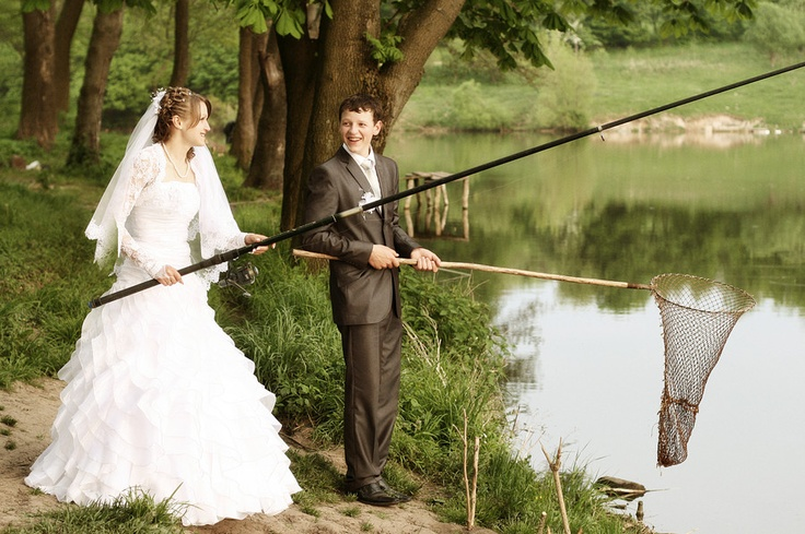 Def going to do this for wedding pictures when the day comes!! wedding day fishing