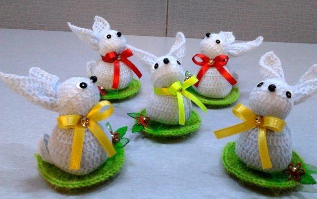 Crocheting :: :: Люси: сделанные крючком Пасхальные кролики и куры