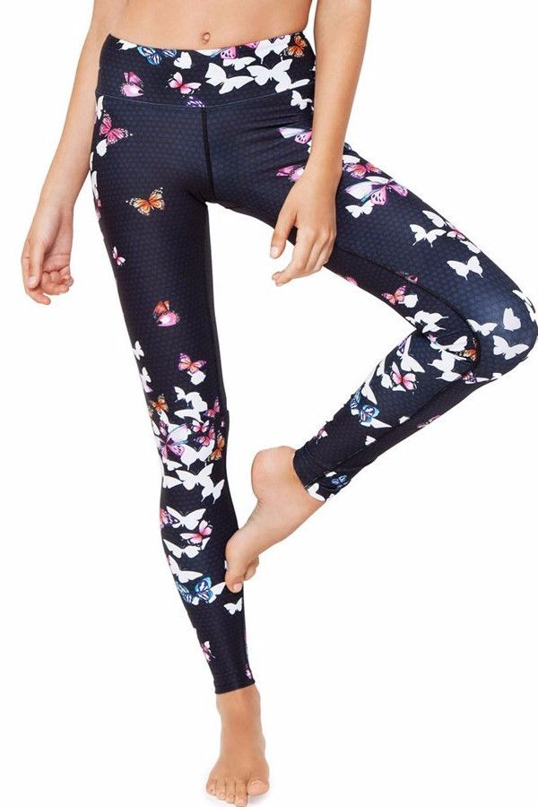 Dharma Bums - High Waisted Butterfly Full Length Tights