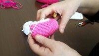 Çilek Kız Ayak Bileği Yapılışı Örgü Oyuncak Amigurumi