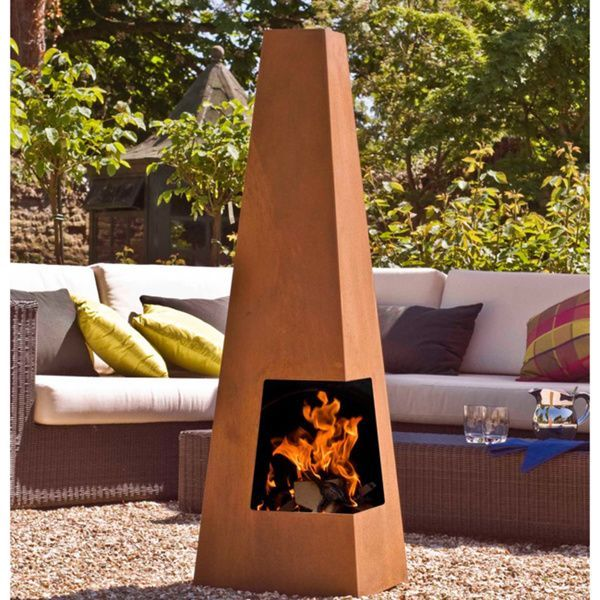 Cuba Chimenea | Overstock.com Shopping - The Best Deals on Fireplaces & Chimineas  FIRE PITS , CHIMENEAS AND OUTDOOR FIREPLACES : More At FOSTERGINGER @ Pinterest