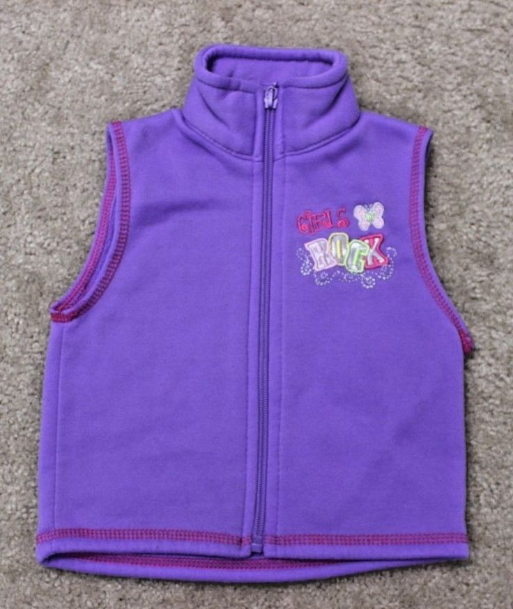 Mon Petit Toddler Girls Purple Vest Size 12 Months  #MonPetit #Vest #Everyday