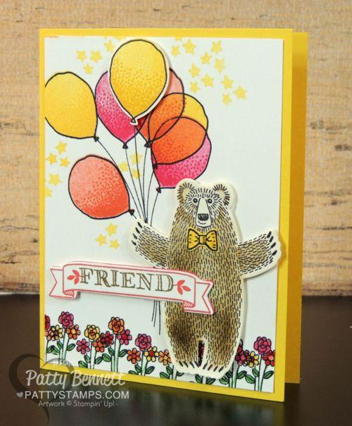 Bear Hugs Balloon Card for a Friend