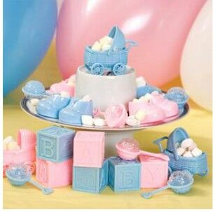 Baby shower idea dollar tree items boy baby shower for Baby shower decoration store