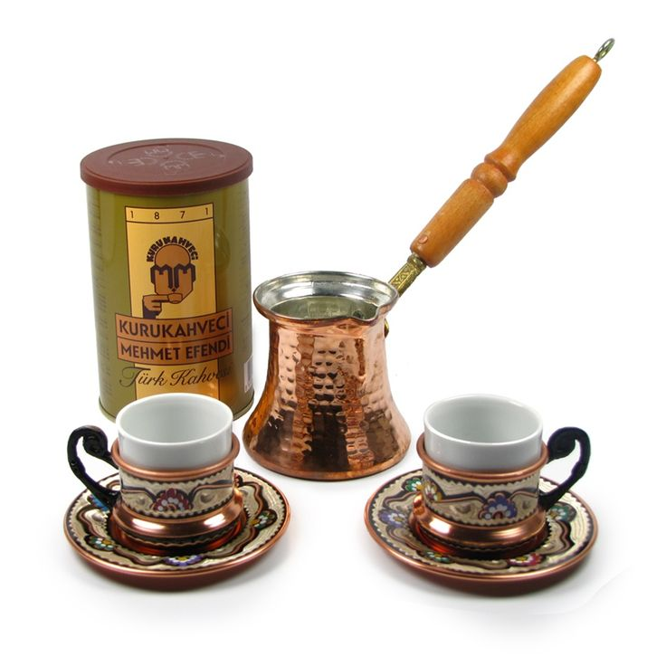 Turkish Coffee World Turkish Coffee Gift Basket with A Set for Two