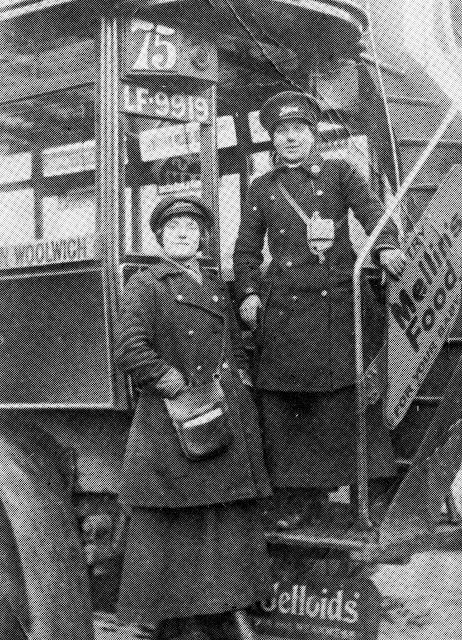 2 unknown bus conductresses during the First World War in Deptford. Faces of Lewisham - Lewisham Heritage - Picasa Web Albums