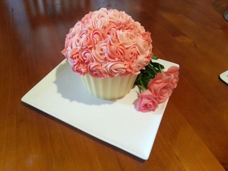 Giant cupcake red velvet and cream cheese with a white chocolate case