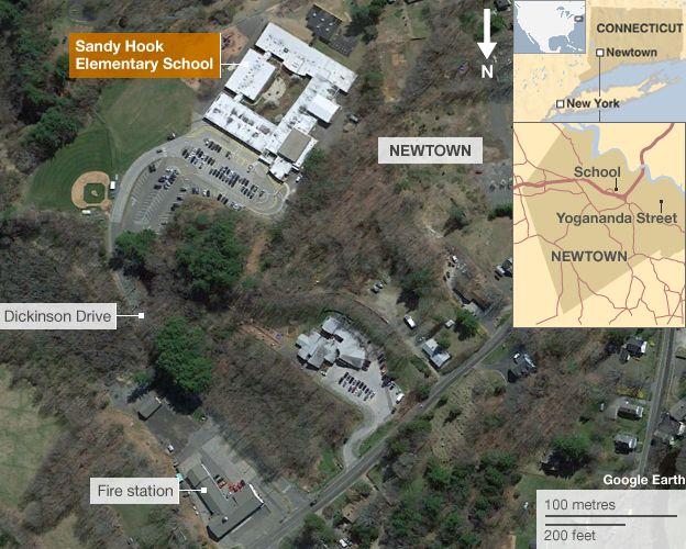 14-dez-12 - A map of Newtown, Connecticut http://baumbraces.com/