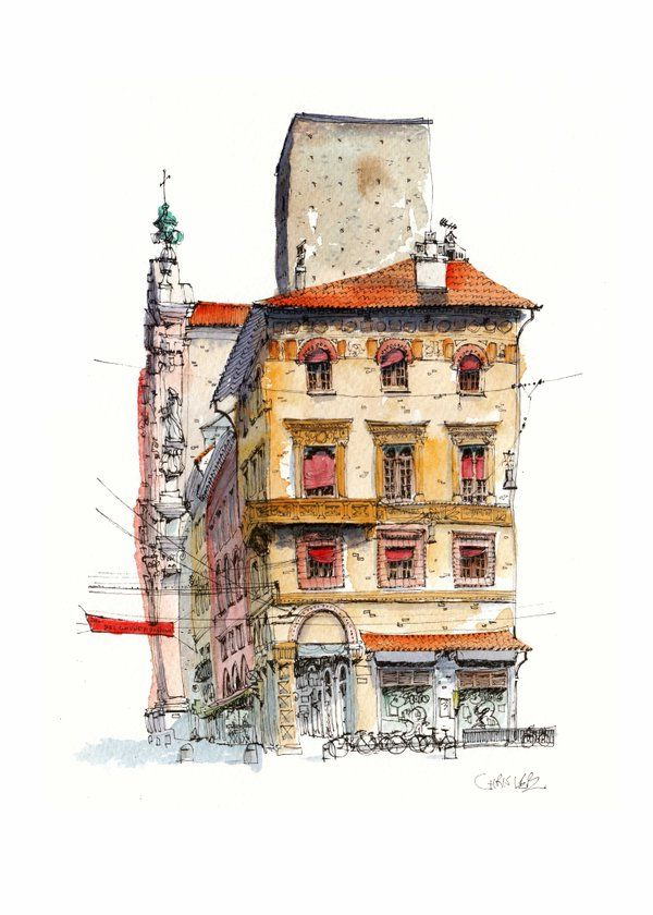 620 best water colour images on pinterest water colors for Chris lee architect