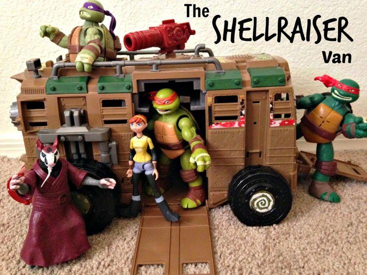 Toys For 7 Year Old Boys 2014 : Ninja turtles shellraiser van adventures toy vans and boys