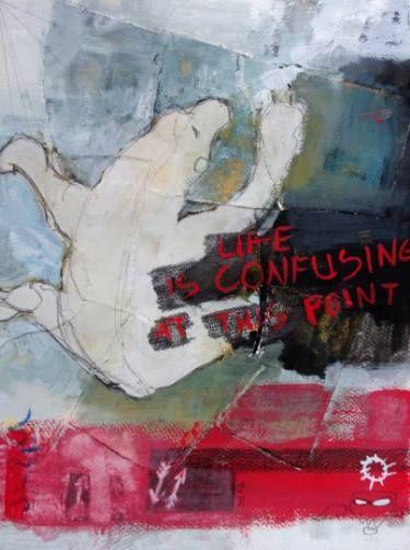 "Saatchi Art Artist Daria Zapala; Painting, ""Life is confusing"" #art"