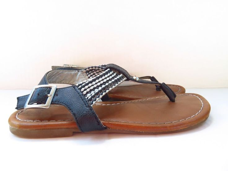 Cherokee Brand Size 13 (Kids) Black And Silver Sandals  | eBay