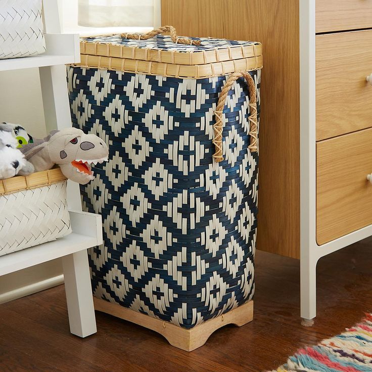Enjoy free shipping on all purchases over $75 and free in-store pickup on the Diamond Bamboo Hamper at The Container Store. Our Diamond Bamboo Hamper truly sets itself apart from all other laundry hampers. Its beautiful woven diamond design is as durable as it is beautiful. It's made from bamboo and polypropylene woven together for strength with twisted rope handles on each side and lid.