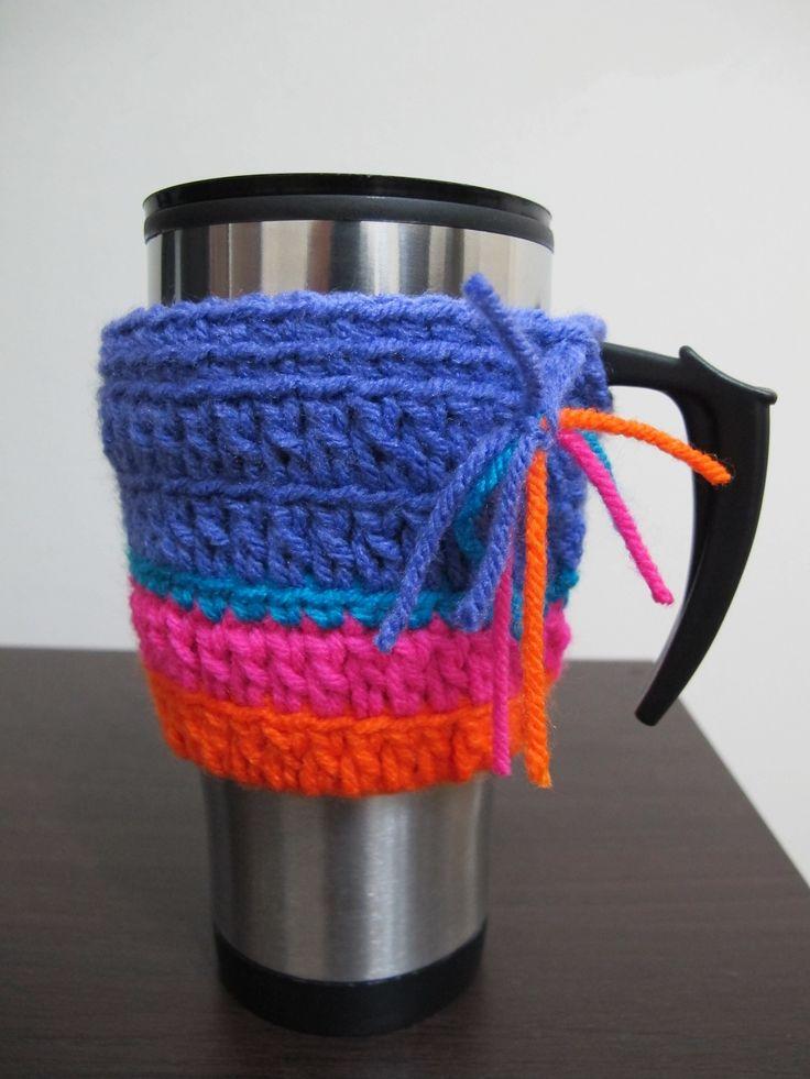 Jarra termica   crochet, $30 en http://ofeliafeliz.com.ar